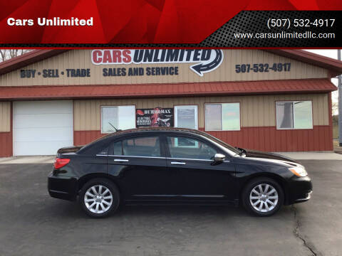 2014 Chrysler 200 for sale at Cars Unlimited in Marshall MN