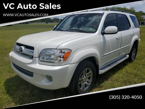 2006 Toyota Sequoia for sale at VC Auto Sales in Miami FL