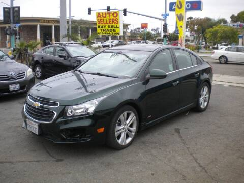 2015 Chevrolet Cruze for sale at AUTO SELLERS INC in San Diego CA