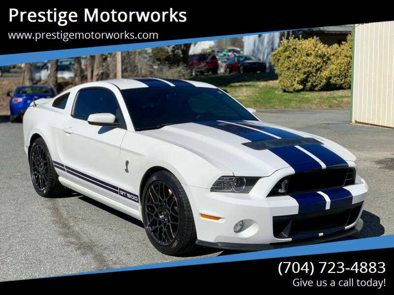 2013 Ford Shelby GT500 for sale at Prestige Motorworks in Concord NC