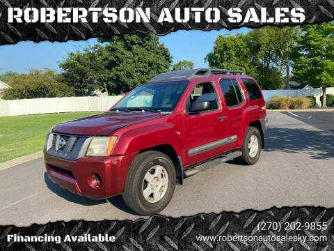 2005 Nissan Xterra for sale at ROBERTSON AUTO SALES in Bowling Green KY
