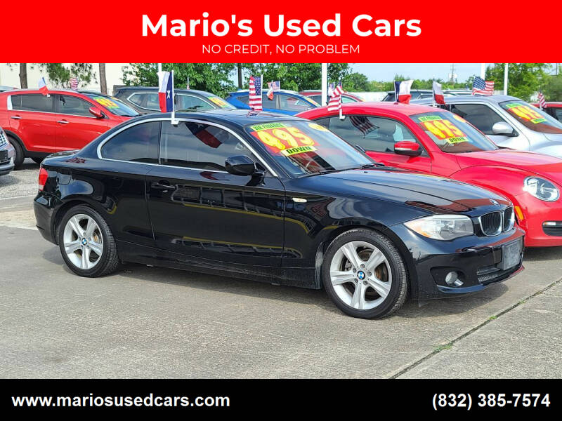 2012 BMW 1 Series for sale at Mario's Used Cars in Houston TX