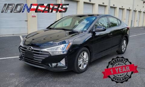 2019 Hyundai Elantra for sale at IRON CARS in Hollywood FL