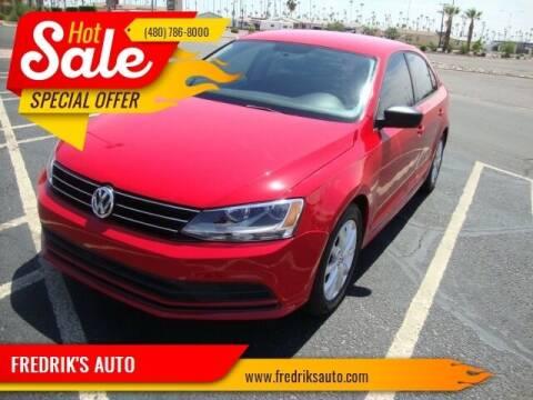 2015 Volkswagen Jetta for sale at FREDRIK'S AUTO in Mesa AZ