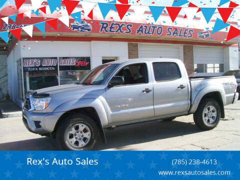 2015 Toyota Tacoma for sale at Rex's Auto Sales in Junction City KS