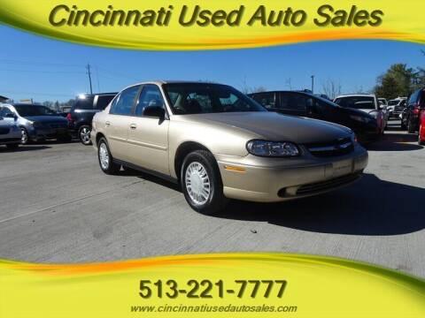 2002 Chevrolet Malibu for sale at Cincinnati Used Auto Sales in Cincinnati OH