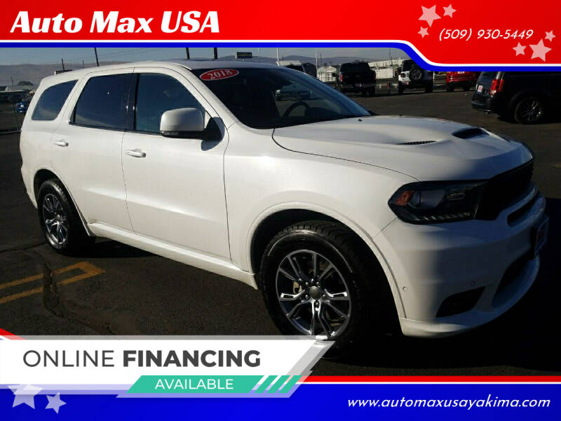 2018 Dodge Durango for sale at Auto Max USA in Yakima WA