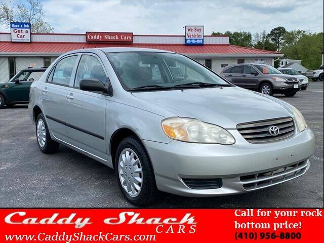 2004 Toyota Corolla for sale at CADDY SHACK CARS in Edgewater MD