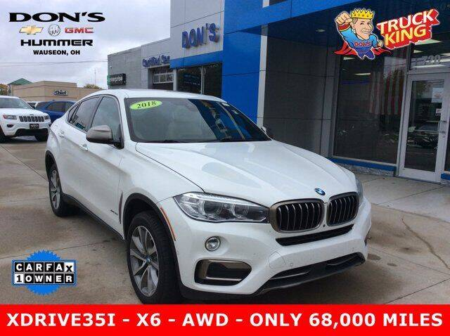 2018 BMW X6 for sale at DON'S CHEVY, BUICK-GMC & CADILLAC in Wauseon OH