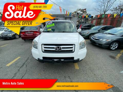 2006 Honda Pilot for sale at Metro Auto Sales in Lawrence MA