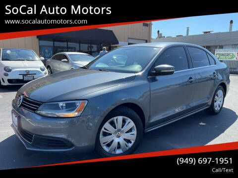2013 Volkswagen Jetta for sale at SoCal Auto Motors in Costa Mesa CA