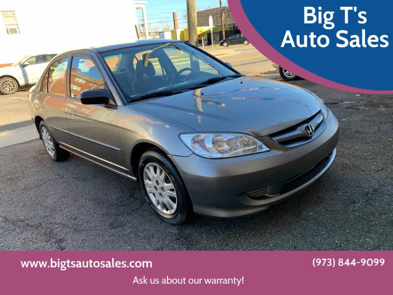 2005 Honda Civic for sale at Big T's Auto Sales in Belleville NJ