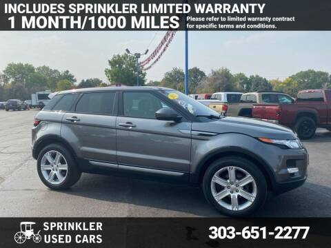 2015 Land Rover Range Rover Evoque for sale at Sprinkler Used Cars in Longmont CO