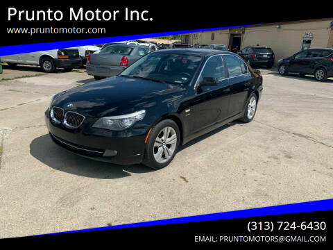 2010 BMW 5 Series for sale at Prunto Motor Inc. in Dearborn MI