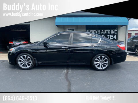 2015 Honda Accord for sale at Buddy's Auto Inc in Pendleton, SC