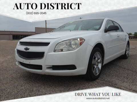 2012 Chevrolet Malibu for sale at Auto District in Baytown TX