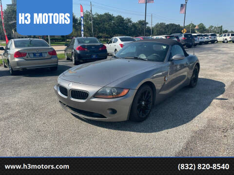 2004 BMW Z4 for sale at H3 MOTORS in Dickinson TX
