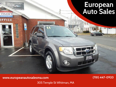 2011 Ford Escape for sale at European Auto Sales in Whitman MA