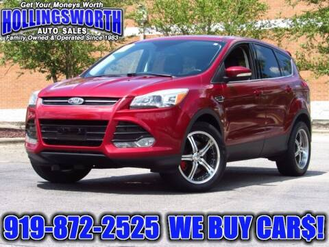 2013 Ford Escape for sale at Hollingsworth Auto Sales in Raleigh NC