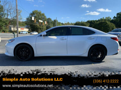 2013 Lexus ES 350 for sale at Simple Auto Solutions LLC in Greensboro NC