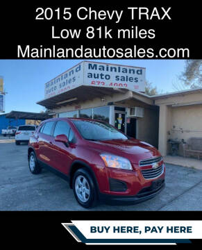 2015 Chevrolet Trax for sale at Mainland Auto Sales Inc in Daytona Beach FL