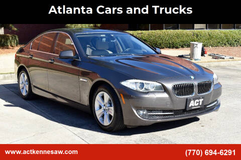 2011 BMW 5 Series for sale at Atlanta Cars and Trucks in Kennesaw GA