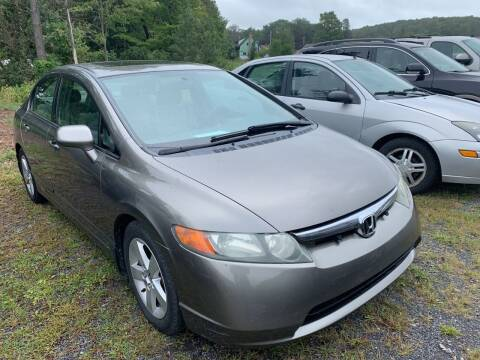 2007 Honda Civic for sale at BURNWORTH AUTO INC in Windber PA
