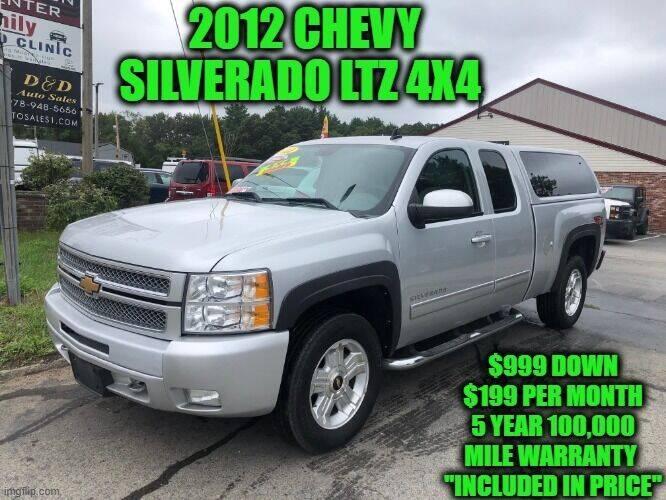 2012 Chevrolet Silverado 1500 for sale at D&D Auto Sales, LLC in Rowley MA