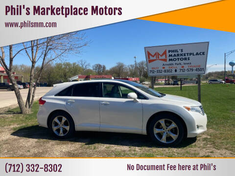 2011 Toyota Venza for sale at Phil's Marketplace Motors in Arnolds Park IA