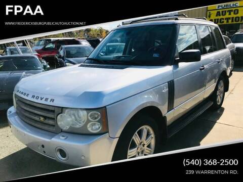 2006 Land Rover Range Rover for sale at FPAA in Fredericksburg VA