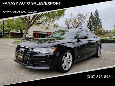 2012 Audi A6 for sale at FANASY AUTO SALES/EXPORT in Yorba Linda CA