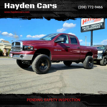 2003 Dodge Ram Pickup 1500 for sale at Hayden Cars in Coeur D Alene ID
