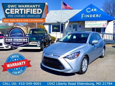 2017 Toyota Yaris iA for sale at CAR FINDERS OF MARYLAND LLC in Eldersburg MD