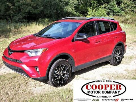 2017 Toyota RAV4 for sale at Cooper Motor Company in Clinton SC