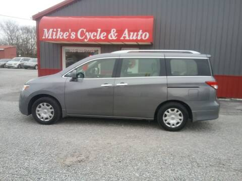 2014 Nissan Quest for sale at MIKE'S CYCLE & AUTO in Connersville IN