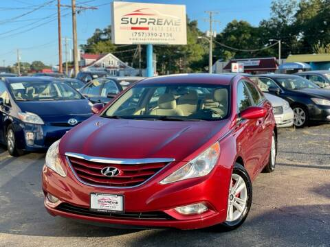 2013 Hyundai Sonata for sale at Supreme Auto Sales in Chesapeake VA