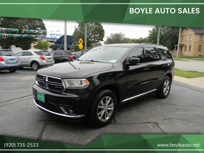 2015 Dodge Durango for sale at Boyle Auto Sales in Appleton WI