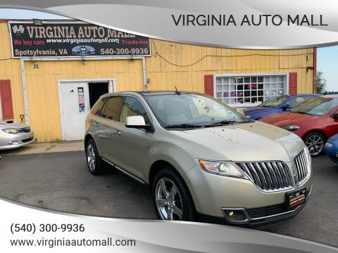 2011 Lincoln MKX for sale at Virginia Auto Mall in Woodford VA