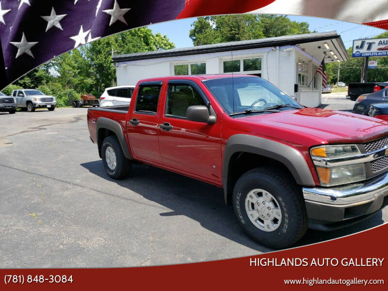 2006 Chevrolet Colorado for sale at Highlands Auto Gallery in Braintree MA