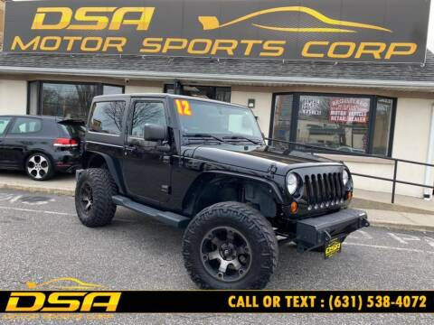 2012 Jeep Wrangler for sale at DSA Motor Sports Corp in Commack NY