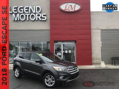 2018 Ford Escape for sale at Legend Motors of Detroit - Legend Motors of Ferndale in Ferndale MI