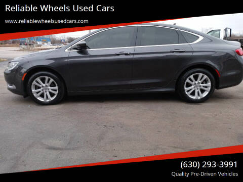 2017 Chrysler 200 for sale at Reliable Wheels Used Cars in West Chicago IL