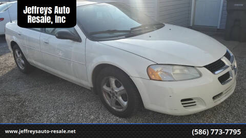 2004 Dodge Stratus for sale at Jeffreys Auto Resale, Inc in Clinton Township MI