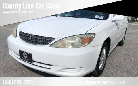 2004 Toyota Camry for sale at County Line Car Sales Inc. in Delco NC