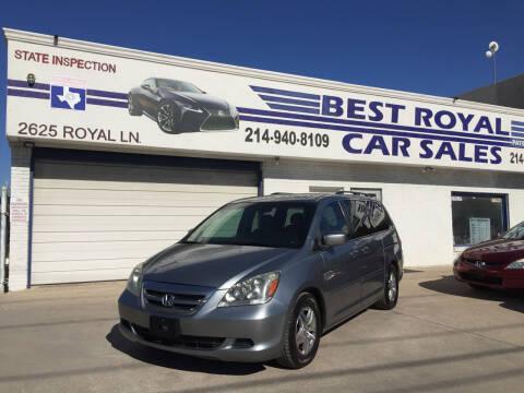 2006 Honda Odyssey for sale at Best Royal Car Sales in Dallas TX
