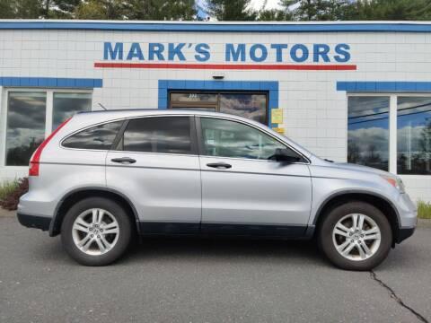 2010 Honda CR-V for sale at Mark's Motors in Northampton MA
