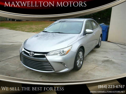 2016 Toyota Camry for sale at MAXWELLTON MOTORS in Greenwood SC