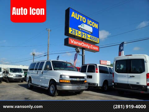 2014 Chevrolet Express Passenger for sale at Auto Icon in Houston TX