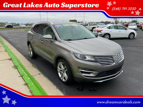 2017 Lincoln MKC for sale at Great Lakes Auto Superstore in Waterford Township MI