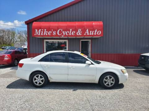2006 Hyundai Sonata for sale at MIKE'S CYCLE & AUTO in Connersville IN